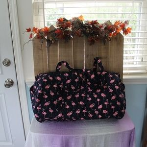 NEW Vera Bradley Lg Traveler Duffel Bag Flamingo